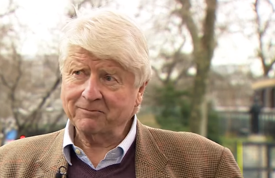 Stanley Johnson being interviewed on BBC News 22 Feb 16