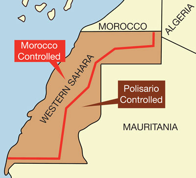 Map of Morocco.