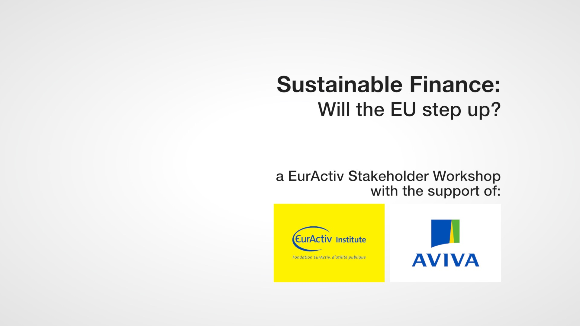 Sustainable finance: Will the EU step up?
