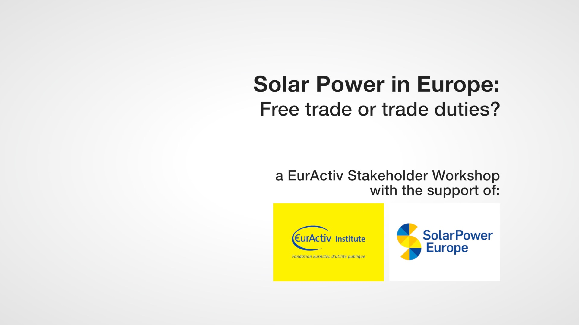 Solar power in Europe
