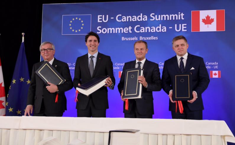 Eu Canada Sign Historic Trade Deal Amid Protests Euractiv