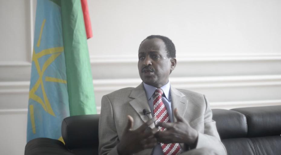 Ethiopian Ambassador Teshome Toga.