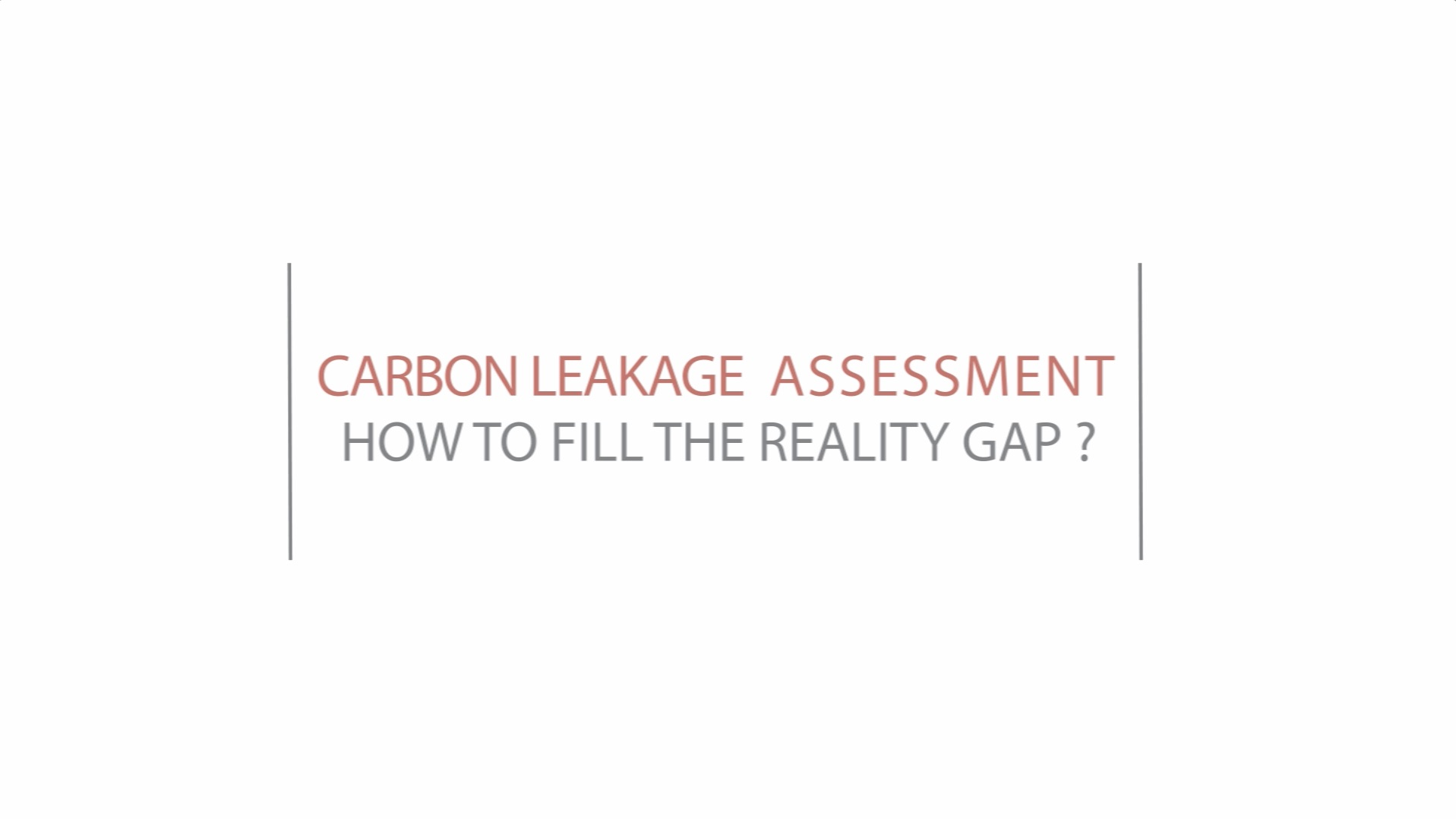 Carbon leakage assessment