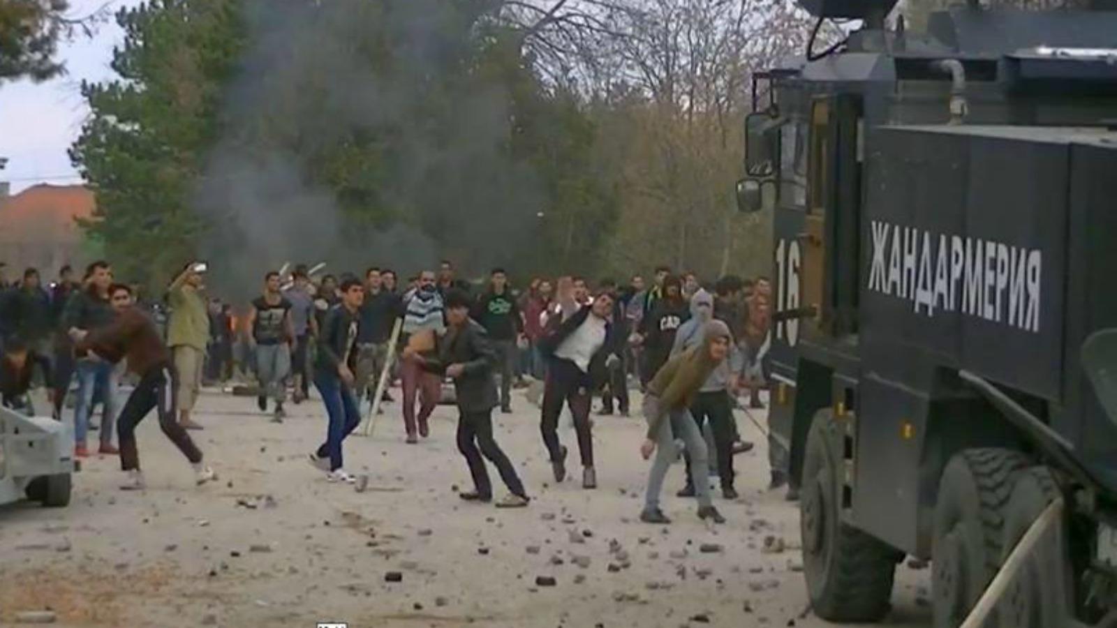 Hasil gambar untuk bulgaria afghans riot police
