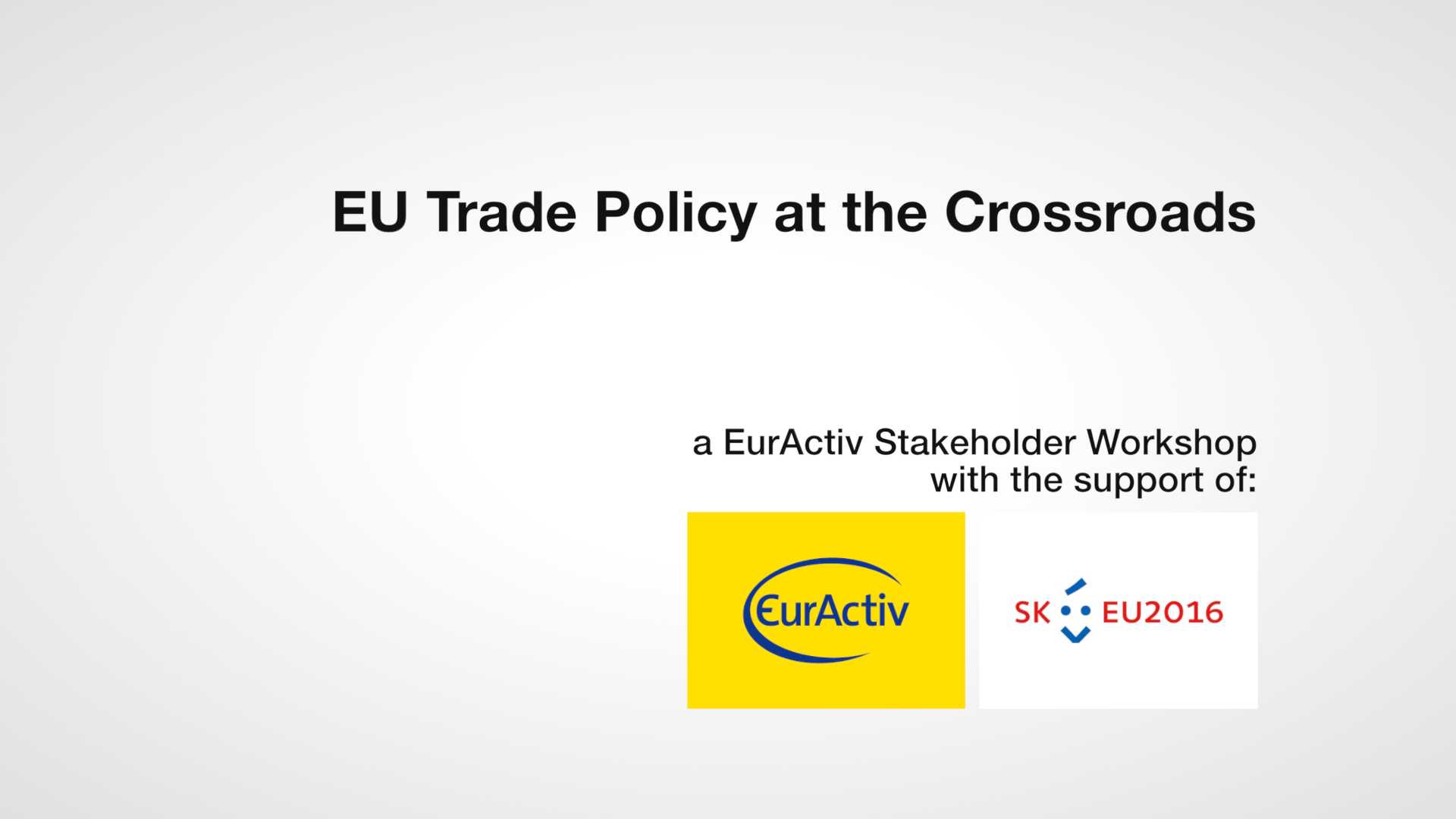 EU trade policy at the crossroads