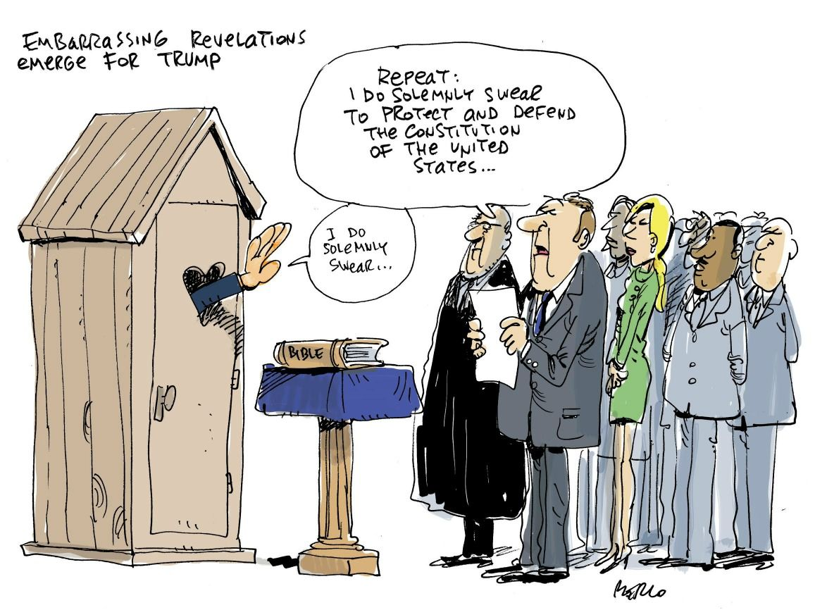 Cartoon: Trump apparently unfazed by embarrassing leaks ...