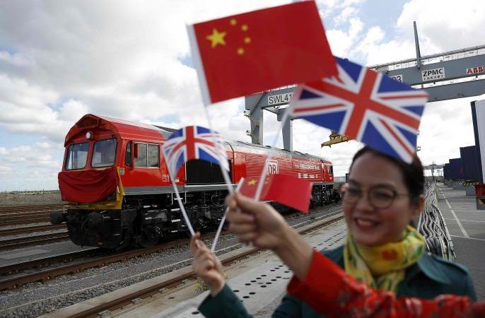 Freight train begins first journey from UK to China