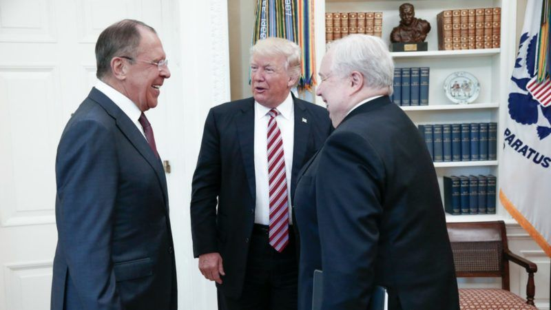 Image result for Trump revealed intelligence secrets to Russians in Oval Office - officials