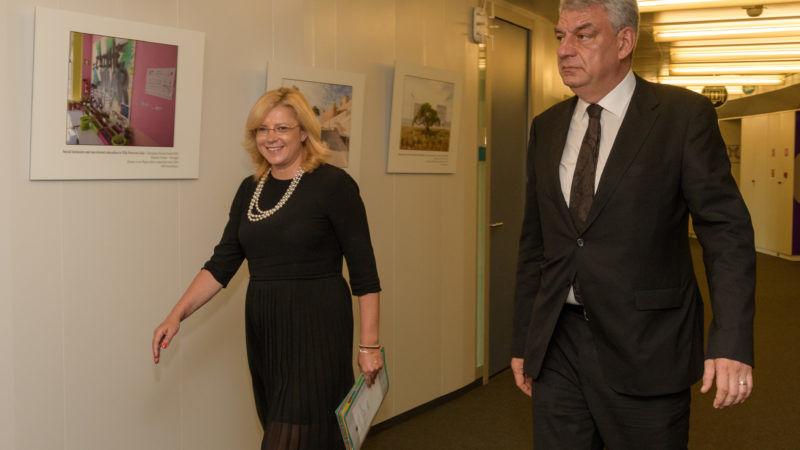 Corina Cretu And Mihai Tudose