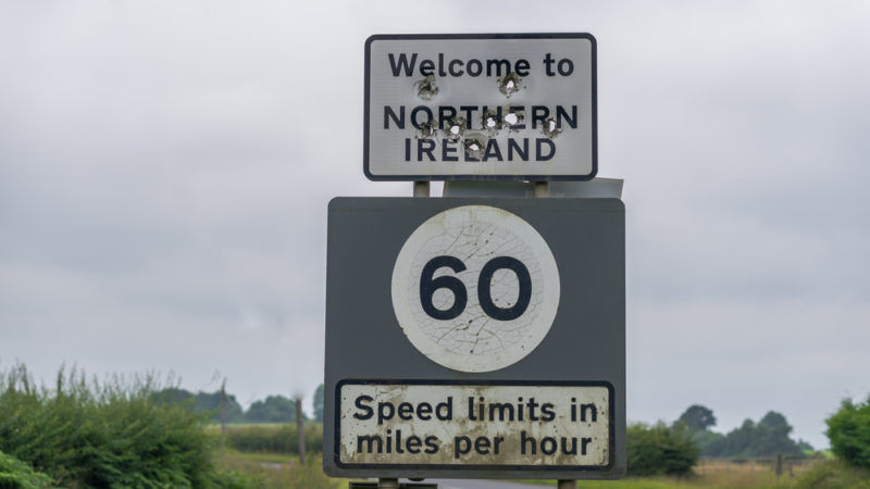Image result for northern ireland border sign