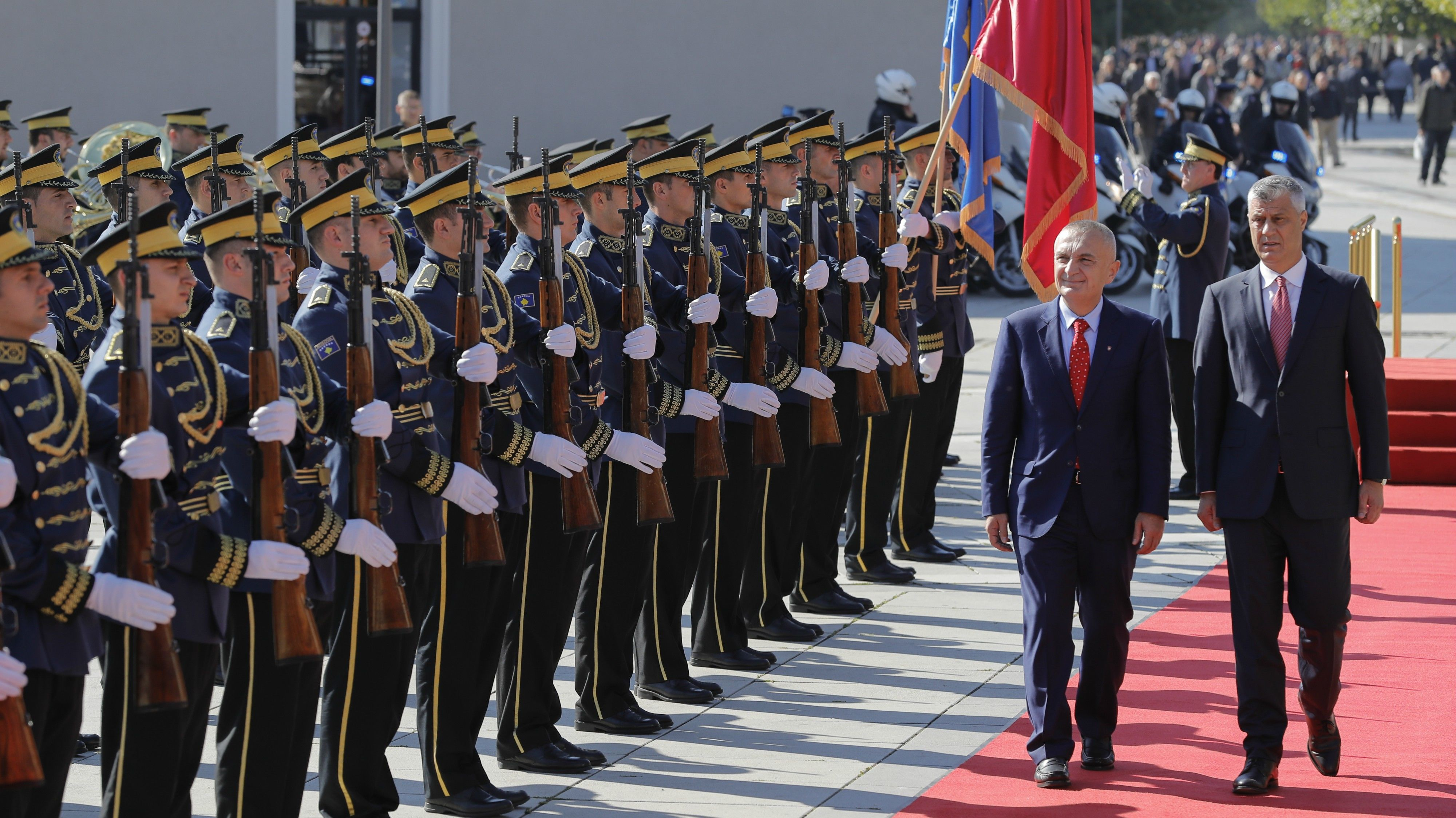 During Albania Visit Kosovo President Defies Eu