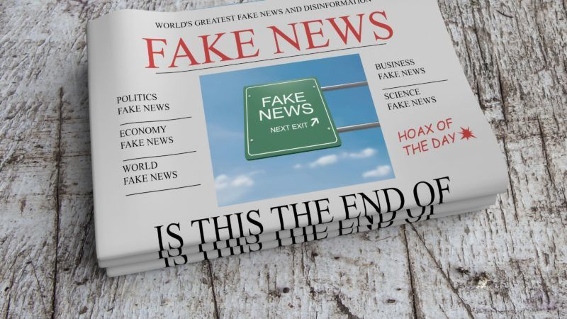 Time to act against fake news