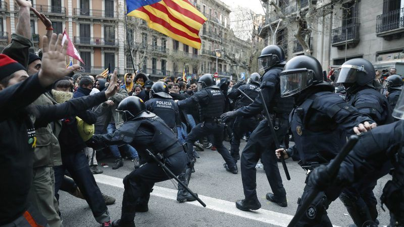 Image result for catalonia riot