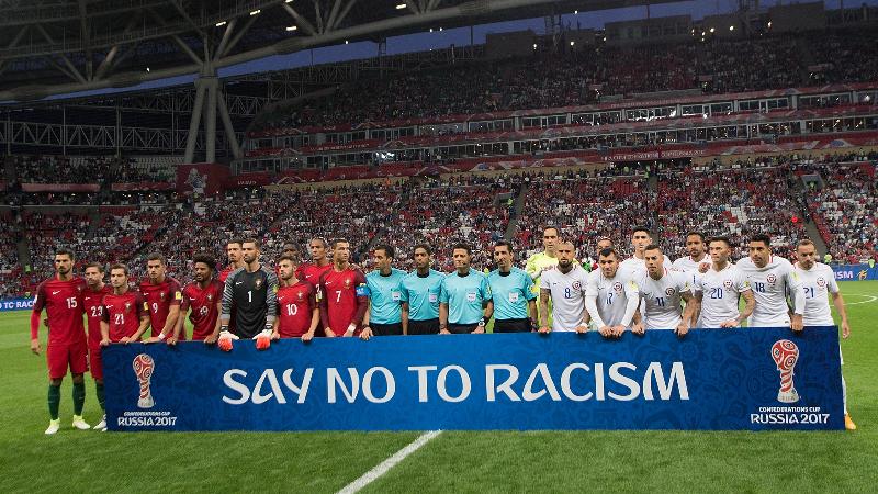Hasil gambar untuk fifa say no to racism