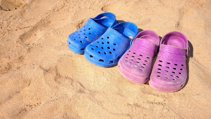 defb5fc26 Some think Crocs are a practical shoe for the beach or garden