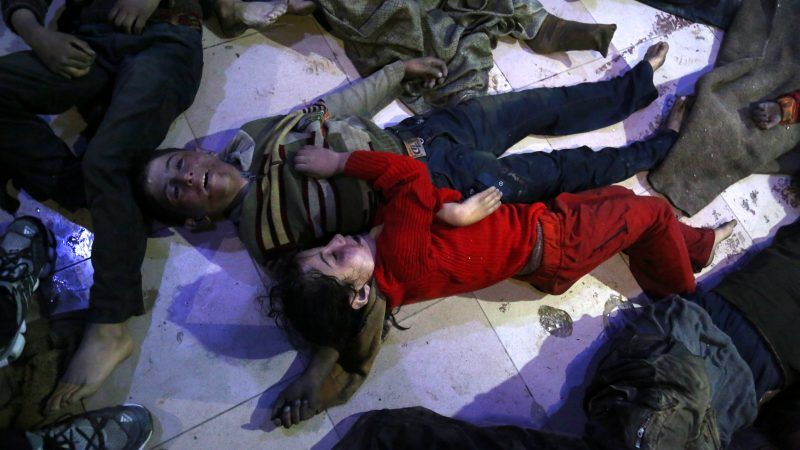Syrian activists say airstrikes on Douma kill 25