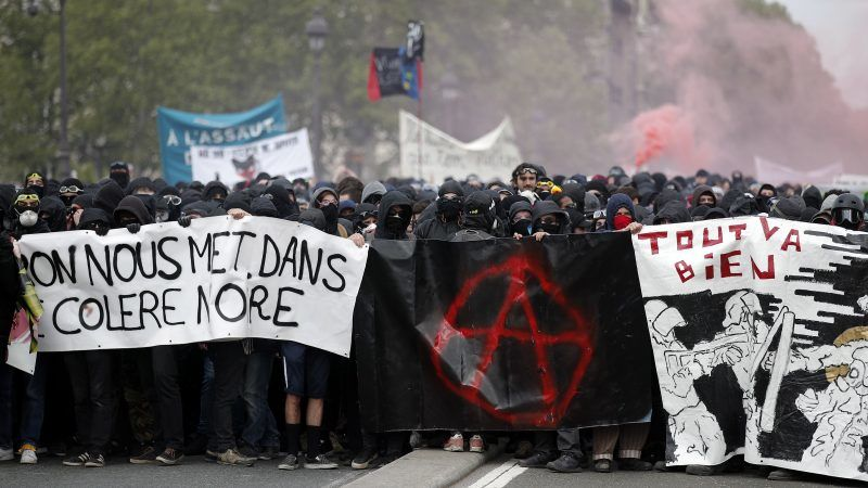 Image result for Paris May day le black bloc