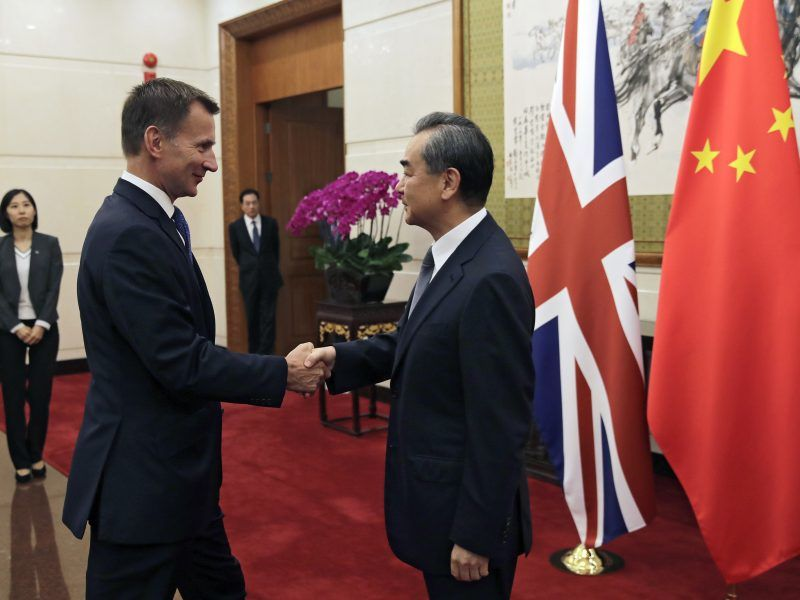 China ready to open talks with UK on a free trade deal, says Hunt