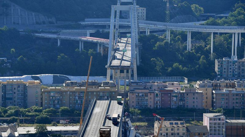 Death toll lowered by 1 to 38 — ITALY BRIDGE COLLAPSE