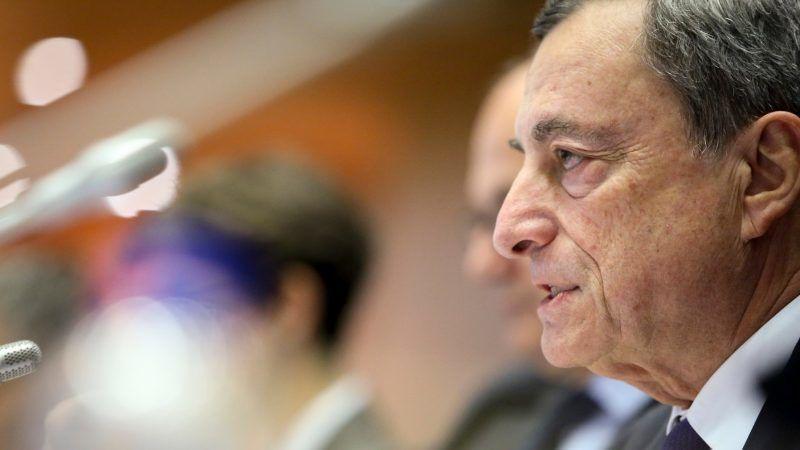 Draghi warns on protectionism as a risk for the Eurozone