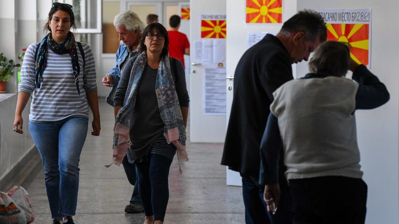 Macedonians vote in referendum on whether to change country's name