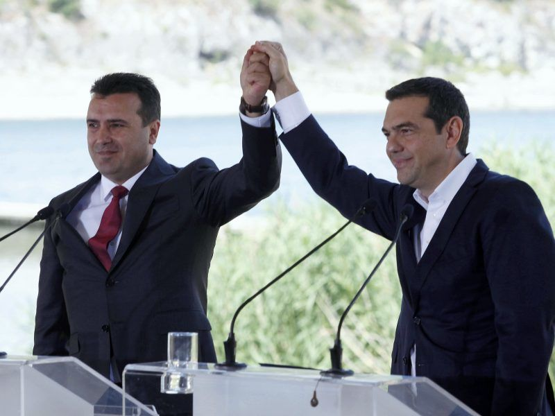 Greek PM Tsipras given a warm welcome in Skopje