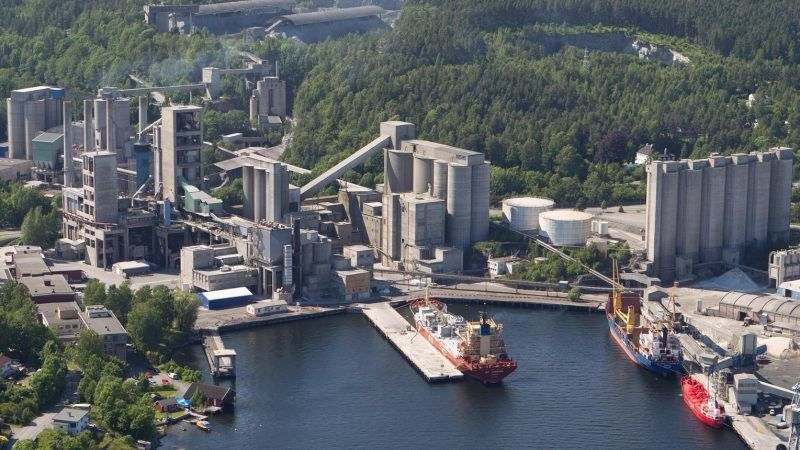 World's first zero-emission cement plant takes shape in Norway
