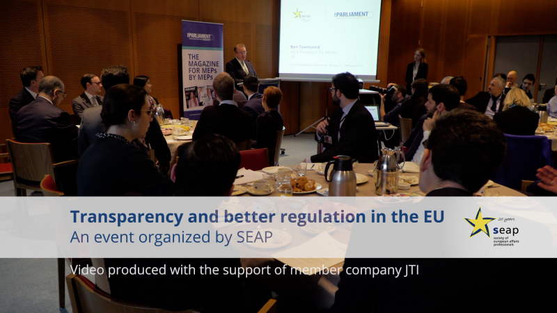 Transparency and better regulation in the EU