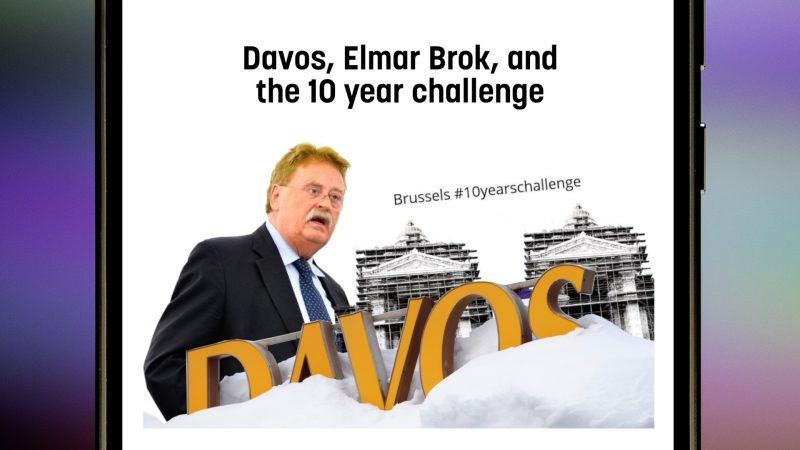 Davos, Elmar Brok, and the 10 year challenge