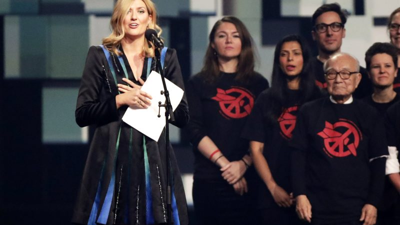 Beatrice Fihn Director Of International Campaign To Abolish Nuclear Weapons ICAN Speaks On Stage During The Nobel Peace Prize Concert Honor