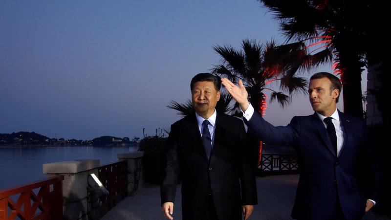 CHINA-MEETING: Xi Meets with Macron, Merkel & Juncker