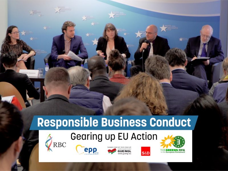 Responsible Business Conduct - Gearing up EU action