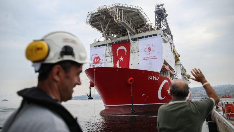Erdogan says Turkey to press ahead with gas search off Cyprus