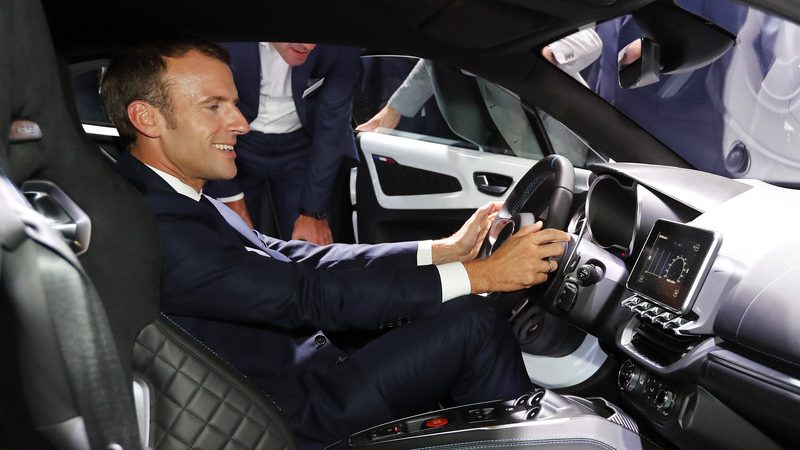 Macron wants France to be Europe's top clean vehicle producer