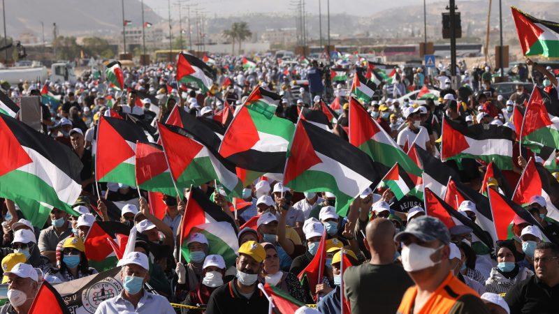 Palestinians rally against Trump Mideast plan – EURACTIV.com