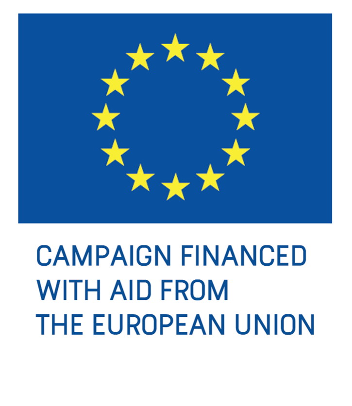 Campaign financed with aid from the EU
