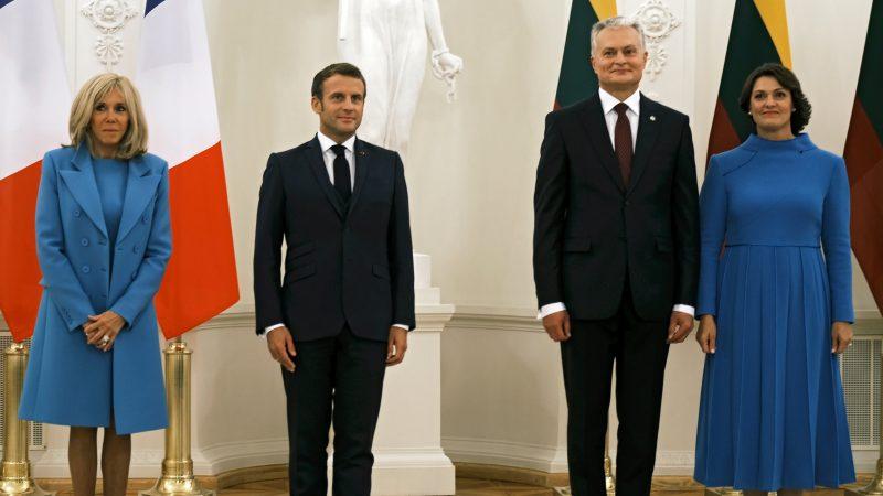 French President Macron: Belarus Leader Lukashenko 'Must Go'