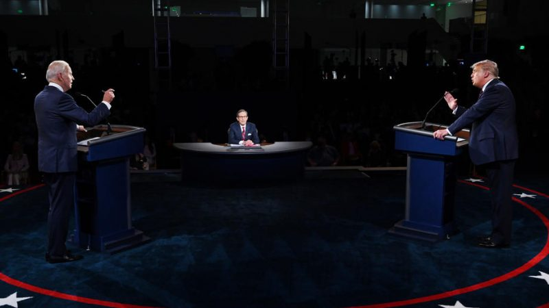 USA election 2020: First Trump v Biden debate in pictures