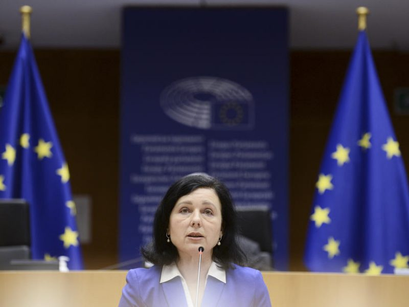 EU negotiators want an 'absolute guarantee' that personal data transferred to the US will not be subject to 'mass surveillance,' as part of ongoing talks on a new EU-US data transfer mechanism, according to the Commission's Vice-President for Values and Transparency, Věra Jourová.