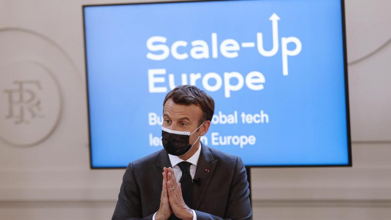 Macron wants Europe to have 10 tech giants worth €100 billion by 2030