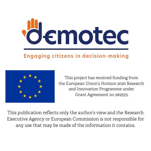 DEMOTEC logo and disclaimer