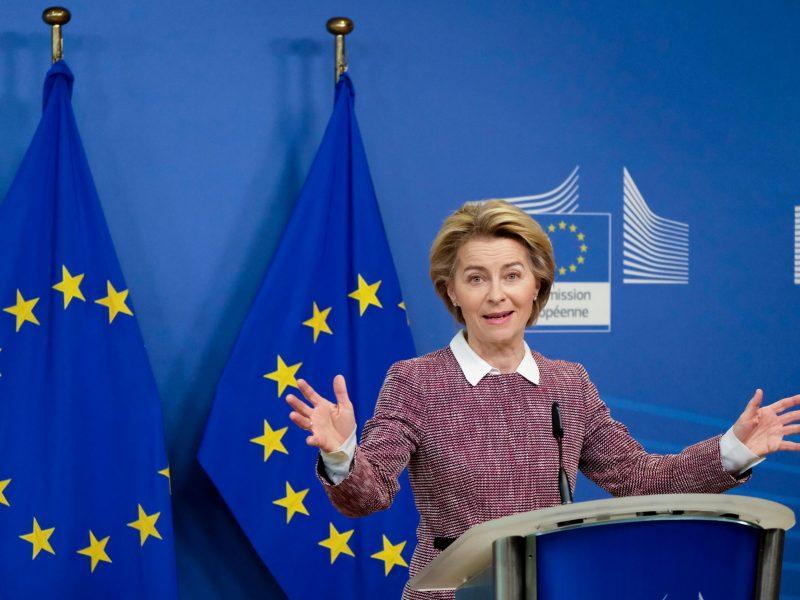 President of the EU Commission, Ursula von der Leyen. 1651624504